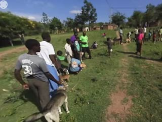 360-degree video of rabies vaccinations in africa
